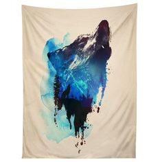 Robert Farkas Alone As A Wolf Tapestry | DENY Designs Home Accessories