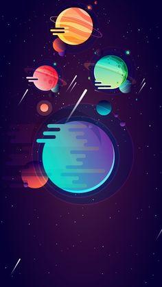 Iphone Wallpaper Astronaut, Space Phone Wallpaper, Cute Galaxy Wallpaper, Planets Wallpaper, Apple Wallpaper Iphone, Minimal Wallpaper, Graphic Wallpaper, Space Illustration, Digital Illustration
