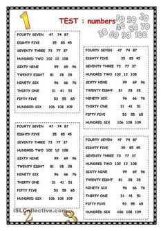 NUMBERS worksheet – Free ESL printable worksheets made by teachers – Grammar Learning English For Kids, English Lessons For Kids, Kids English, English Language Learning, Teaching English, Learn English, Kids Learning, English Lesson Plans, Language Arts
