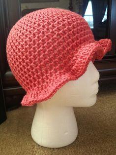 Pink brim hat for cancer patients