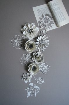 samantha gazal, book paper art