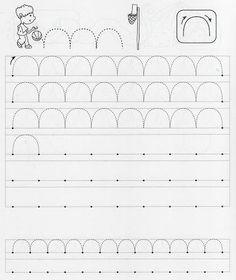 .. Grade R Worksheets, Tracing Worksheets, Alphabet Worksheets, Preschool Worksheets, Pre Writing, Kids Writing, Writing Skills, Printing Practice, Handwriting Activities