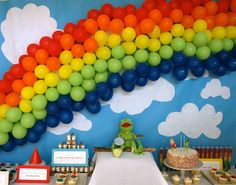 The (Original) Muppet Movie // Rainbow Backdrop Baby Boy 1st Birthday, Boy Birthday Parties, Birthday Ideas, 4th Birthday, Rainbow Dash Party, Twins 1st Birthdays, Muppet Babies, Baby Party, Babies Nursery