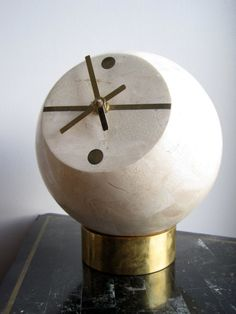 Clock by Maitland Smith Tessellated Stone and by contentshome