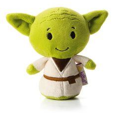 Hallmark Itty Bittys Star Wars: Yoda Plush http://shop.hallmark.com/anytime/anytime-gifts/itty-bitty-yoda-stuffed-animal-1KID3238.html