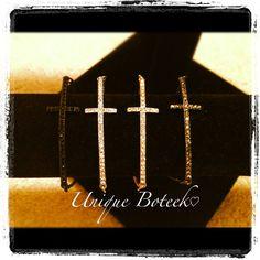 Sideways Cross Bracelet  Check out my other by UniqueBoteekShop, $20.00