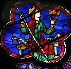 Rosace ouest de la cathédrale Notre Dame de Paris, vitrail du martyr et de l'apostasie