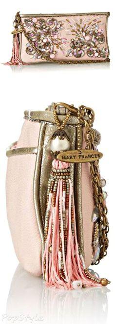 Mary Frances Rose Glow Elegant Evening Bag