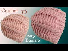 Gorro a Crochet punto trenzas y punto elástico horizontal en relieves tejid. - Knitting patterns, knitting designs, knitting for beginners. Crochet Cowl Free Pattern, Crochet Baby Bonnet, Crochet Stitches Patterns, Knitting Patterns, Crochet Hooded Scarf, Crochet Coat, Diy Crochet, Knitting Designs, Crochet Designs