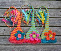 NEW 1 Newborn GiRL Hat Baby PHoTO PRoP FLoWER PoWER Munchkin Multicolor Stocking Cap FuZZY Brim FaT Tassel PiCK YoUR CoLORs Original ToQUE. $48.00, via Etsy.