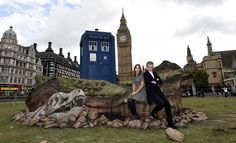 """And the TARDIS is currently in London to help promote the new series of Doctor Who.   You Can Now Visit A Crashed """"Doctor Who"""" TARDIS On Parliament Square"""