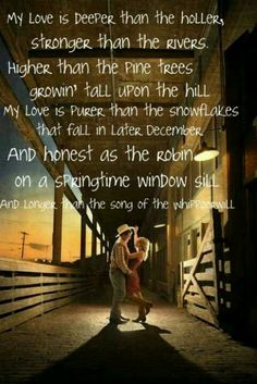 Deeper than the Holler by Randy Travis ~ One of my favorite country songs. <3 <3