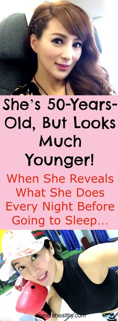 She's 50-Years-Old, But Looks Much Younger! When She Reveals What She Does Every Night Before Going to Sleep…The name of this incredible-looking woman is Candy Lo and believe it or not she's 50-years-old.