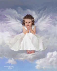 Angel Painting - Angel 2 by Rob Corsetti Angel Images, Angel Pictures, Jesus Pictures, Cute Pictures, Christmas Lockscreen, Angel Wallpaper, Angel Drawing, I Believe In Angels, Angels Among Us