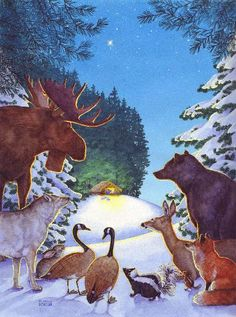 Wildlife and Nativity by Susan Detwiler