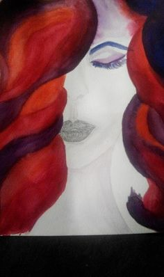 Aquarelle woman