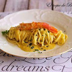 ESPAGUETIS CON LANGOSTINOS EN SALSA DE MOSTAZA Polenta, Quinoa, Risotto, Spaghetti, Cooking, Ethnic Recipes, Food, Pasta Recipes, Sauces