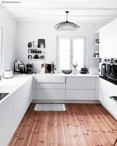 "How do you like this Scandi kitchen? ⠀⠀⠀⠀⠀⠀⠀⠀⠀ Look for ""kitchen"" on ⠀⠀⠀⠀⠀⠀⠀⠀⠀ . Nordic Interior, Interior Design Kitchen, Boho Kitchen, Kitchen Decor, Modern Bedroom Design, Transitional Decor, 3d Max, French Decor, Kitchen Cabinets"