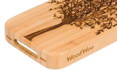 Drzewno w Drewnianej obudowie na iPhone 4/4s