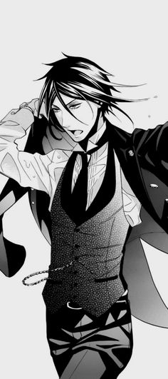 Black Butler ~~ Dry your hair before getting dressed, Sebastian! Honestly...<--- no one else seems to mind. Hehehe////