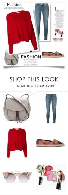 """Outfit # 4593"" by miriam83 ❤ liked on Polyvore featuring Marc Jacobs, Paige Denim, STELLA McCARTNEY, Burberry and Jimmy Choo"
