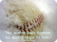 Believe it or not, spring really is around the corner, which means....BASEBALL IS NEAR! Stay warm friends!