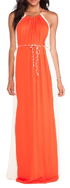 persimmon and nude maxi dress  http://rstyle.me/n/jwa2mpdpe
