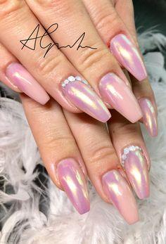 Nails Aurora, Ballerina Nails, ballerina nägel Ballerina Nails, Aurora, Nail Designs, Make Up, Nail Art, Glitter, Beauty, Kunst, Nail Desings