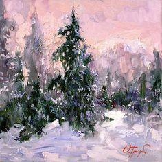 Winter Painting by Oleg Trofimoff, Russin Artist.