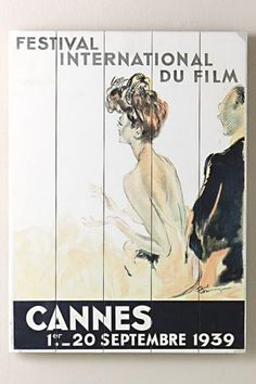 THINKING ABOUT ADDING TO MY APT: 1939 CANNES FILM FESTIVAL WOODEN SIGN @HOMEDECORATORS $59 -- THOUGHTS?