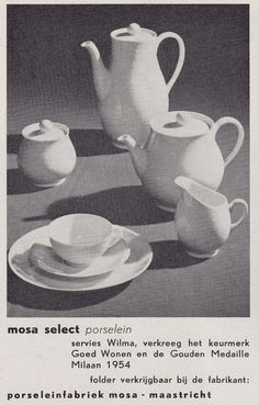 """1956, advertisement for the """"Wilma"""" service, MOSA, Maastricht..."""