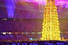 Jogos Olímpicos de Verão 2008, Pequim, China. Cerimônia de Encerramento, no Estádio Nacional de Pequim, Ninho de Pássaro.  Fotografia: Richard Giles.