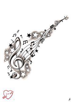 """Résultat de recherche d'images pour """"tatouages partition musique"""""""