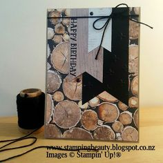 Stampin' Up! Wood Textures DSP masculine card