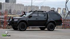 Mitsubishi L200 | Satin Black Matt | | Profesyonel Araç Kaplama