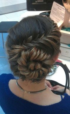 swirling braided wedding hairstyle