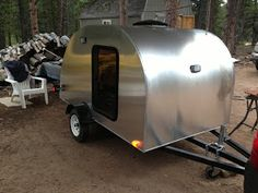 Build blog covering the construction of a custom, homemade teardrop camper similar to the vintage Benroy style of the 50s