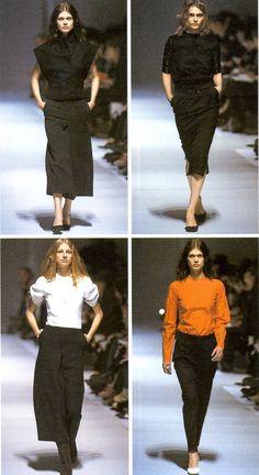 balenciaga autumn/winter 1999 Nicolas Ghesquiere, Fall Winter, Autumn, Out Of Style, Fasion, Balenciaga, Parachute Pants, Going Out, High Waisted Skirt