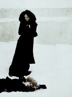 """A Winter in Saint Petersburg"", photographed by Deborah Turbeville for Vogue Italia July 2006."