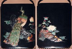 Case (Inrô) with Design of Peacock on Rock with Peonies, 19th century. Meiji period (1868–1912). Japan. The Metropolitan Museum of Art, New York. H. O. Havemeyer Collection, Bequest of Mrs. H. O. Havemeyer, 1929 (29.100.911) #peacock