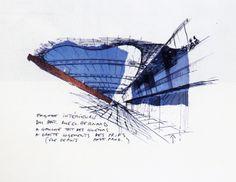 Dessins de Bernard Tschumi pour le projet du Fresnoy Bernard Tschumi, Architectural Drawings, Collages, Sketching, Personality, Paintings, Landscape, Architecture, Handmade