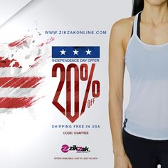 ✋ATTENTION!!! INDEPENDENCE DAY OFFER ☆☆☆☆☆☆☆☆☆☆ 20% OFF. ➡shipping free in USA 😉 #independenceday #offer #zikzak #outfit