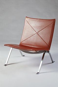 Easy chair, PK22. Designed by Poul Kjaerholm for E. Kold Christensen, Denmark. 1956.