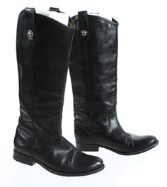 Frye Company Brand 1863 Black Mid Calf Leather Boots 6.5B #Frye #MidCalfBoots #Casual