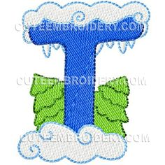 Winter Font Uppercase - Cute Alphabets - Embroidery Fonts