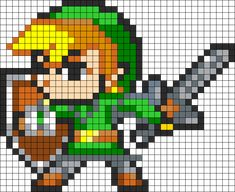 Link Perler Bead Pattern | Bead Sprites | Characters Fuse Bead Patterns