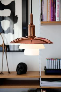 Copper Pendant by Louis Poulsen, New to Living Edge   http://www.yellowtrace.com.au/australian-design-news-may-2014/