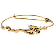 Alex and Ani Om Gold Wrap Bracelet Barely worn! Alex & Ani Jewelry Bracelets