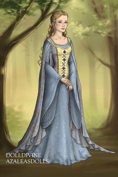 Éowyn's Blue Victory Gown