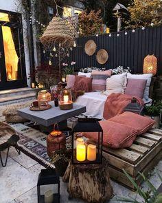 Small Outdoor Patios, Outdoor Patio Designs, Small Patio, Outdoor Rooms, Outdoor Living, Outdoor Furniture Sets, Outdoor Decor, Patio Ideas, Backyard Ideas